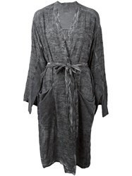 Lost And Found Ria Dunn Tie Waist Jacket Grey