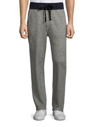 True Religion Contrast Banded Heathered Sweatpants Heather Grey