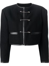 Jean Paul Gaultier Vintage Safety Pin Fastening Jacket Black