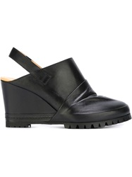 Mm6 Maison Margiela Wedge Slingback Clogs Black