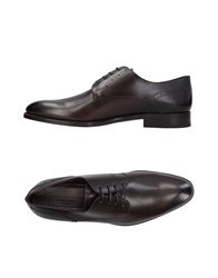 Ermenegildo Zegna Lace Up Shoes Dark Brown