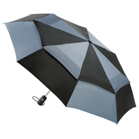 Totes Wonderlight Auto Double Canopy Umbrella Black Grey