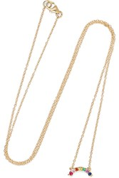 Andrea Fohrman 14 Karat Gold Multi Stone Necklace Usd