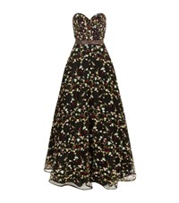 Jovani Embroidered Floral Gown Female Black
