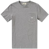 Maison Kitsune Embroidered Fox Tee Grey