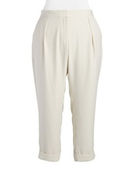 Dknyc Plus Plus Rolled Cuff Pants Chalk