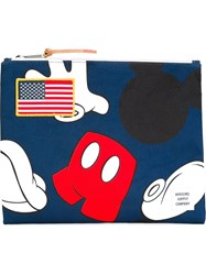 Herschel Supply Co. Large 'Disney Network' Clutch Blue