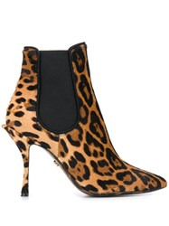 Dolce And Gabbana Leopard Print Stiletto Boots Haalm