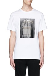 Public School 'Kissen' Horse Monument Print T Shirt White