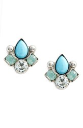 Sorrelli Buzzworthy Earrings Blue Green