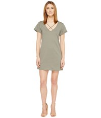 Culture Phit Keelie Short Sleeve Dress With Strap Detail Olive Women's Dress
