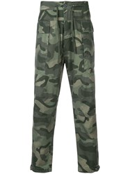 Osklen Camouflage Print Trousers Green