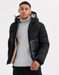 Tom Tailor Teddy Lined Puffer With Water Repellant Fabric Black