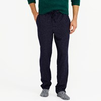 J.Crew Flannel Pajama Pant In Navy Grid
