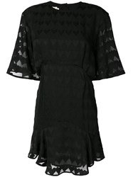 Maison Kitsune Juliet Frilled Dress Black