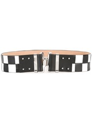 Dsquared2 Checkerboard Hook Fastening Belt Black
