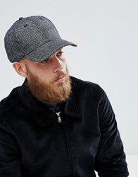 Selected Homme Porter Baseball Cap In Wool Mix Grey