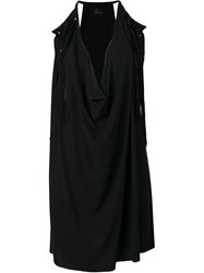 Lost And Found Ria Dunn Fringed Draped Top Black