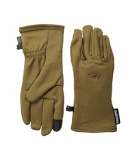 Outdoor Research Backstop Sensor Gloves Coyote Extreme Cold Weather Gloves Silver
