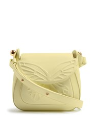 Sophia Webster Evie Butterfly Leather Shoulder Bag Light Yellow