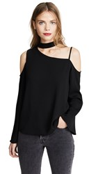 Cooper And Ella Asymmetric Blouse Black