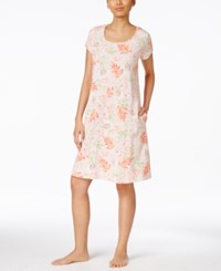 Miss Elaine Tropical Floral Print Nightgown