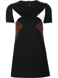 Neil Barrett Geometric Colour Block Dress Black