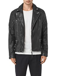 Allsaints Yuku Biker Leather Jacket Black