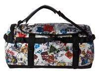 The North Face Base Camp Duffel Large Tnf Red Sticker Bomb Decay Print Tnf Black Duffel Bags Multi