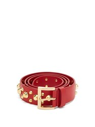 Prada Studded Leather Belt Red