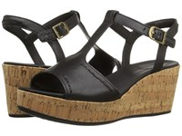 Hush Puppies Blakely Durante Black Leather Women's Wedge Shoes