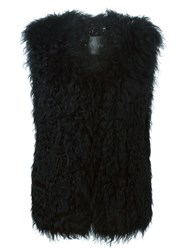 Ravn Knitted Lamb Vest Black