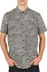 Volcom Men's Vibe Daze Cotton Blend Woven Shirt Egg White