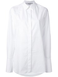 Stella Mccartney Classic Tuxedo Shirt Women Cotton 40 White