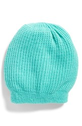Free People Everyday Slouchy Beanie Blue Green Turquoise