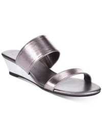 Callisto Athena Alexander By Spendit Wedge Sandals Women's Shoes Pewter