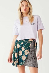 Urban Outfitters Uo Abigail Wrap Skirt Floral Multi