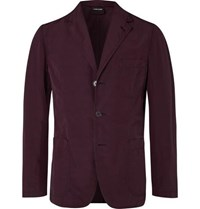 Aspesi Burgundy Slim Fit Unstructured Shell Blazer Burgundy