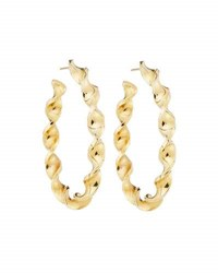 Roberto Coin 18K Yellow Gold Twisted Round Hoop Earrings