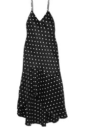 Cami Nyc The Sandra Asymmetric Polka Dot Silk Charmeuse Dress Black
