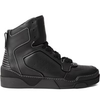 Givenchy Tyson Leather High Top Sneakers Black