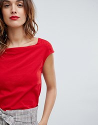 Sisley Cowl Neck Top Red
