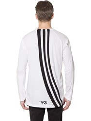 Y 3 Stripes Jersey Long Sleeve T Shirt