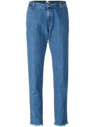 P.A.R.O.S.H. Tapered Leg Jeans Blue