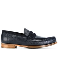 Dolce And Gabbana Suede Trim Loafers Blue