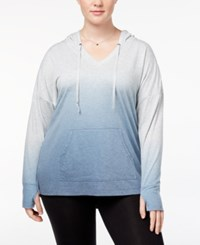 Ideology Plus Size Dip Dyed Hoodie Created For Macy's Infinity Dip