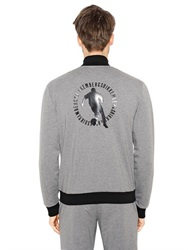 Dirk Bikkembergs Zip Up Stretch Cotton Sweatshirt