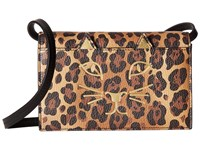 Charlotte Olympia Feline Purse Natural Leopard Print Goatskin Wallet Handbags Animal Print