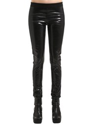 Rick Owens Drkshdw Coated Denim Leggings Black