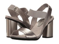 Anne Klein Peppie Pewter Leather Women's Shoes
